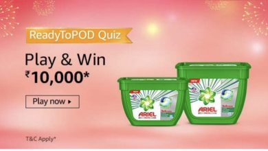 Photo of Amazon ReadytoPod Quiz Answers 29 October : Participate and Win Rs. 10,000