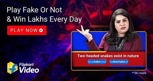 Flipkart Fake Or Not Fake Quiz Answers 30 November : Win Supercoins & EGVs worth Rs 50