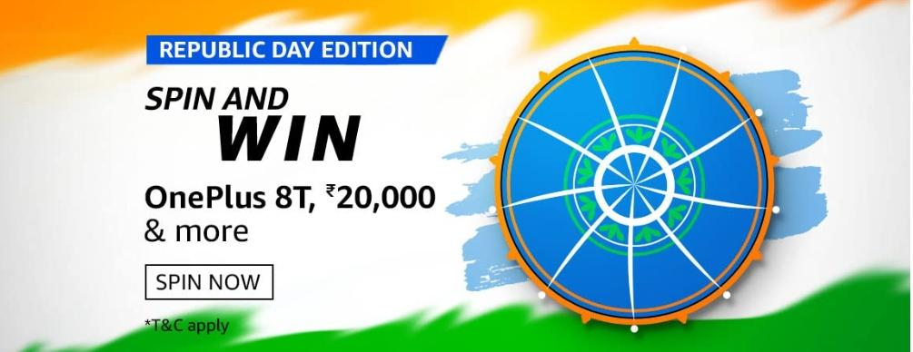 Amazon Republic Day Edition Quiz Answers: Spin And Win ...