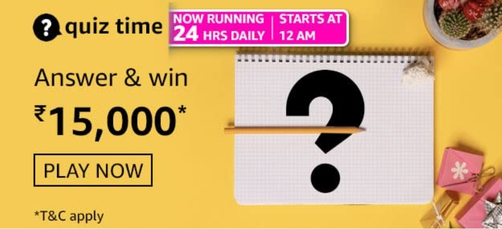 Amazon Daily Quiz 4 March 2021 Answers : Participate and win Amazing prizes