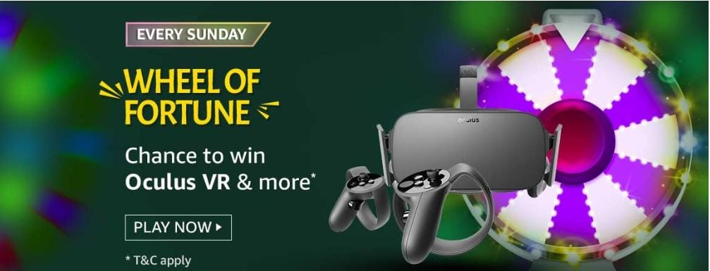 18 April 2021 Amazon Wheel of Fortune Answers : Spin & Win exciting Prizes